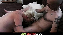 He cheats with sexy blonde plumper