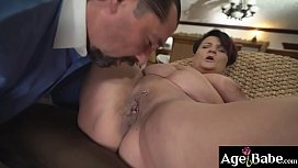 Mature Dolly Bee'_s pierced pussy licked and   pounded by her new neighbor Leslie