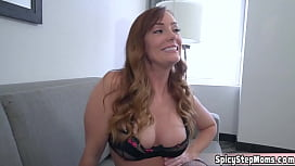 So my redhead stepmom is doing some webcam in secret