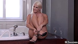 Deepthroat in the Jacuzzi for Cock Lovin Blanche Bradburry
