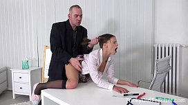 Tricky Old Teacher - Student shocks her classmates by fucking her