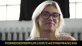 CASTING FRANCAIS - Sexy PAWG chokes on dick in hardcore audition