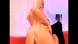 Dirty blond hooker gets fucked in both holes and her face creamed