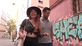 Liberal hipster girl gets drilled by a conservative guy