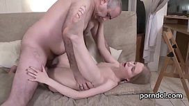 Lovely schoolgirl gets seduced and plowed by older schoolteacher