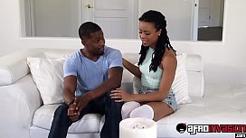Cute ebony teen Kira...
