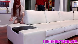 Bdsm redhead throats dick and gets rough fucked