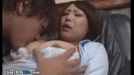 Japanese horny Milf gets fucked in a pub