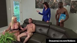 Mature Moms Deauxma &amp_ Alexis Golden Have Interracial 4Some!