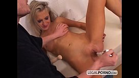 Young blonde fucked hard by huge cock NL-9-02