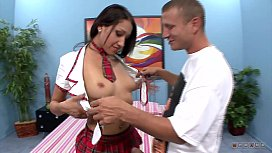 Brunette School Girl Wants to Learn something about Sex with a Kinky Teacher