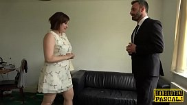 Chubby british submissive fucked...