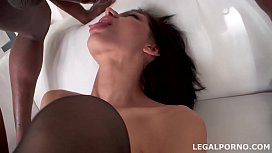 Nympho Lina Arian travels from Kiev for 1st time Interracial Balls Deep Anal