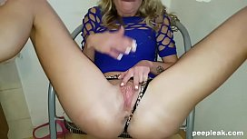 Blonde Sucks her BF'_s Cock like a Vacuum Cleaner