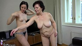 OldNanny Plump mature and...