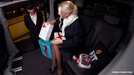 FUCKED IN TRAFFIC - Christmas car sex with hot Swedish blondie Lynna Nilsson