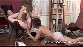 Two hot young Latino...