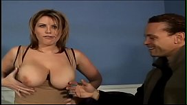 Well hung stud came his cocoa on big tits of naughty lady with curvacious figure Lisa Sparxxx after her wet cunt had been well stretched