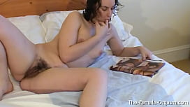 Hairy Horny British Pussy Gets Wet and Cums Hard While Masturbating To Porn