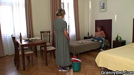 Cleaning woman gives up...