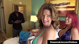Hot Cougar Deauxma &amp_ Whitney Wonders Fuck A Big Black Cock!