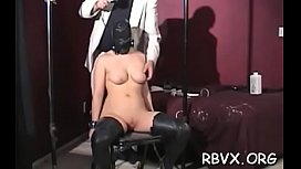 Savory lady bury a rubber sex toy inside her gap
