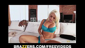 SEXY slutty MILF Jacky Joy is caught masturbating on the couch
