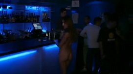Girls clubbing naked in Barcelona