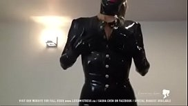 Black latex mistress tease...