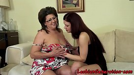 chubby spex mature enjoys queening teen
