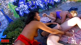 Great outdoor orgy with...