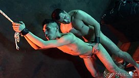 Submissive nude hunk gets...