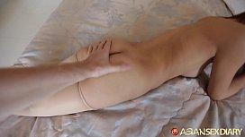ASIANSEXDIARY Horny Asian Amateur Creams All Over Big Dick