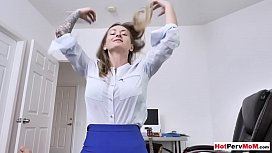 Russian MILF stepmom needs sons cock after a tough day