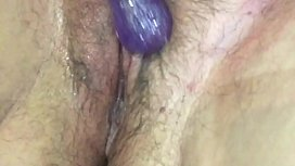 Hairy wet pussy playing...