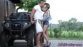 Euro babe anally banged after giving bj