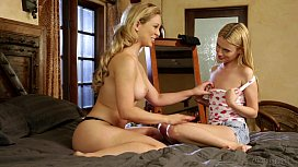 Cherie DeVille and her tiny Step Daughter Kennedy Kressler xxx video