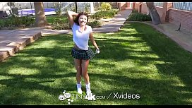 TINY4k Backyard golf lesson...
