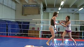 European babes play with toys after fight