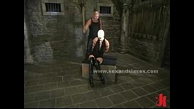 Leather tied sex slave...