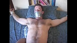 Guy tied down