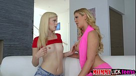 Mom Cherry licks Charlottes sweet teen pussy in 69 position