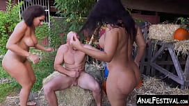 Monster Booty Latinas Share Jmacs Huge Cock On A Ranch