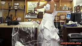 Blondie pawns wedding dress...