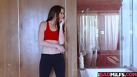 Sofie Marie ended up just getting the studs cock more wet with her sloppy blowjob
