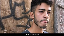 LatinLeche - Cute Latino Hipster Gets A Sticky Cum Facial