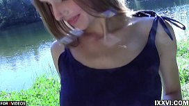 Outdoor fuck step sister...