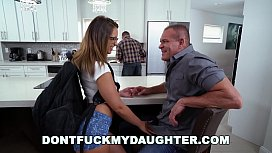 DON'T FUCK MY DAUGHTER - Slutty Teen Sneaking Around With Daddy's Friend
