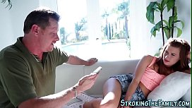 Teen stepdaughter throat