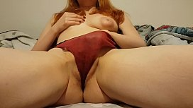 Redhead with puffy nipples...